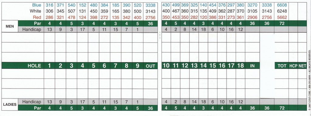 Cog Hill Golf & CC- #2 - Actual Scorecard | Course Database Golfers