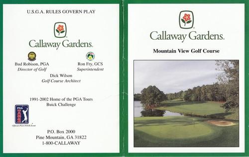 Callaway Gardens M Actual Scorecard Pga Tour Qualifying