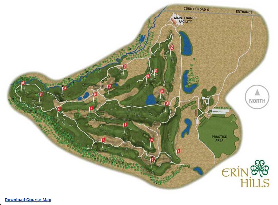 Erin Hills  Layout Map  WSGA