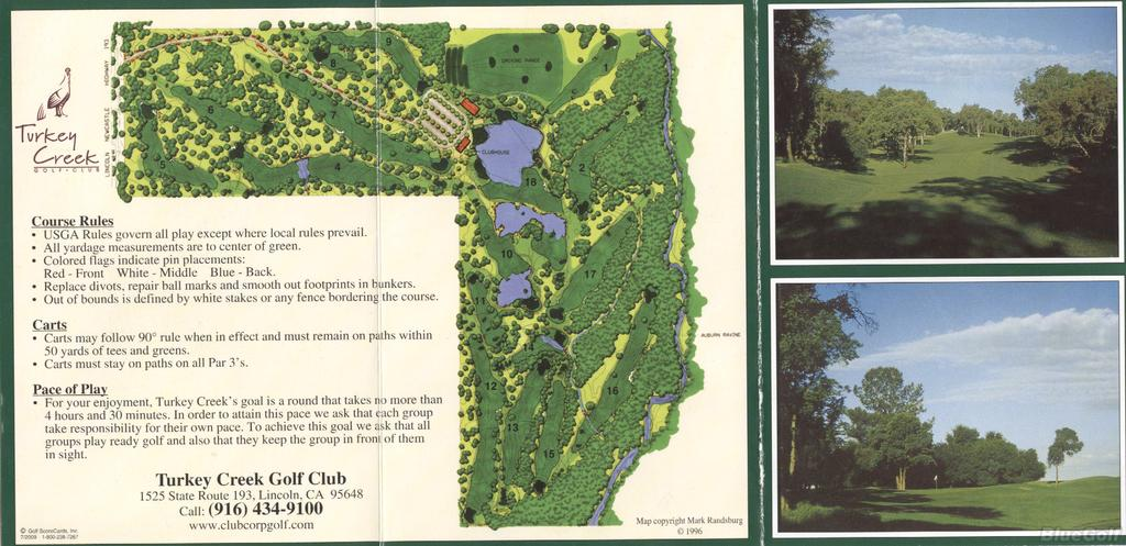 Turkey Creek Gc Actual Scorecard Course Database
