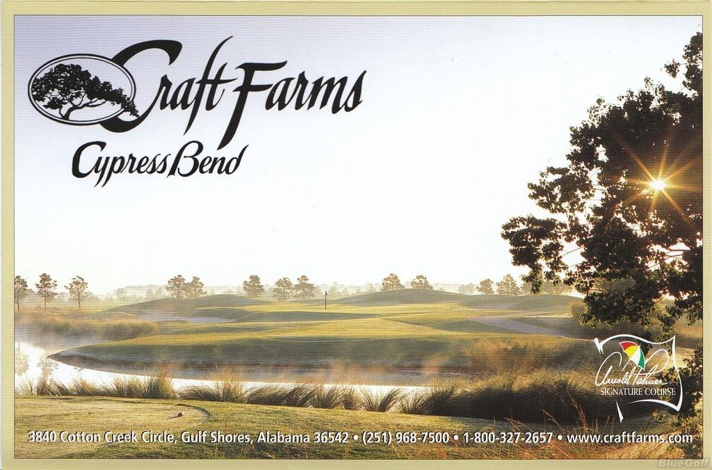 Craft farms cypress bend actual scorecard course database for Craft farms gulf shores al
