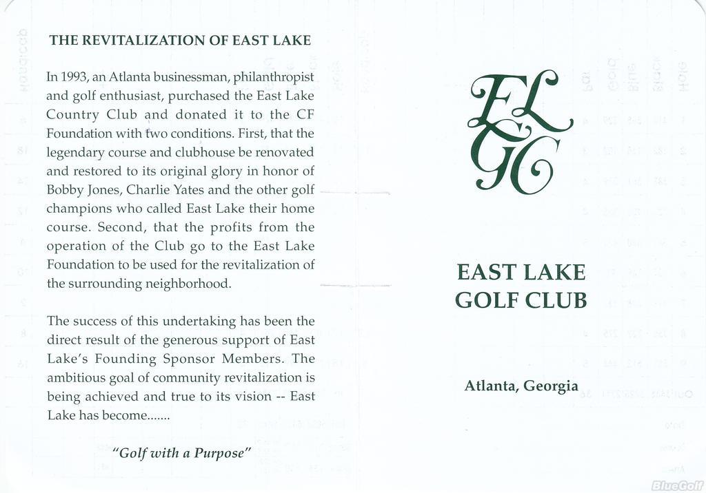 Golf Club Logo East Lake Golf Club