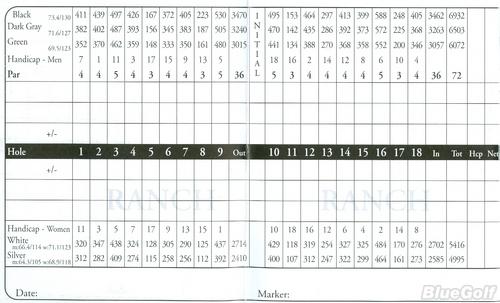 Black Diamond Ranch Actual Scorecard Course Database
