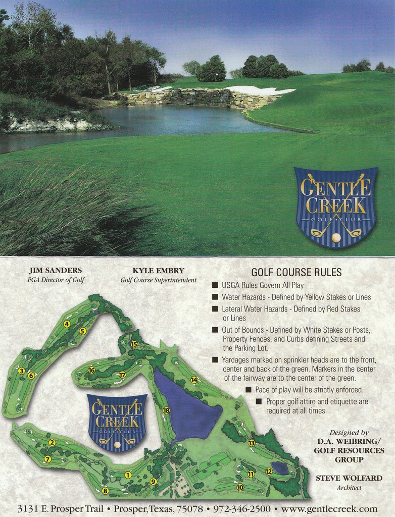 Gentle Creek CC - Actual Scorecard | Course Database Golfers