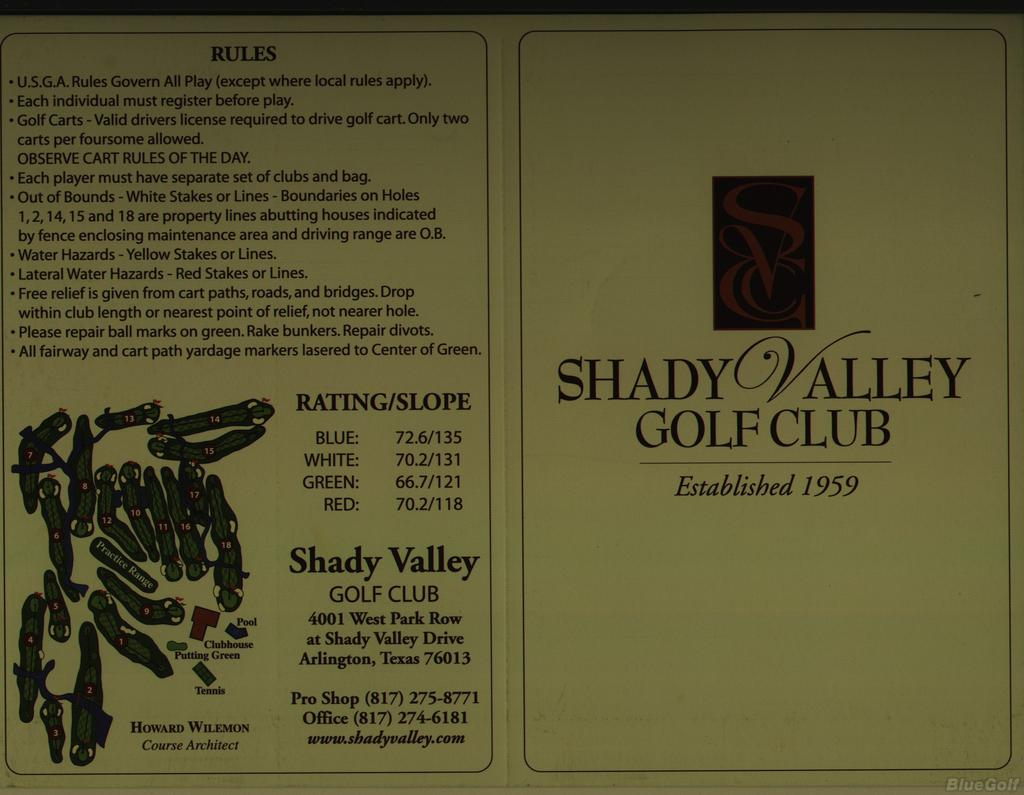 Shady Valley Golf Club