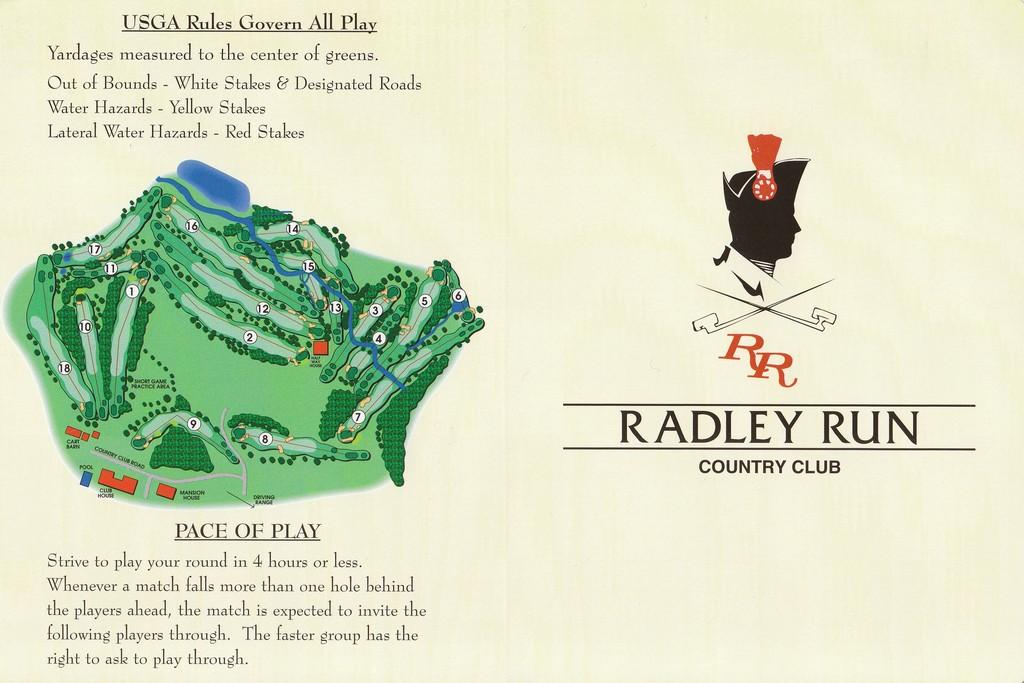 Radley Run Cc Actual Scorecard Course Database