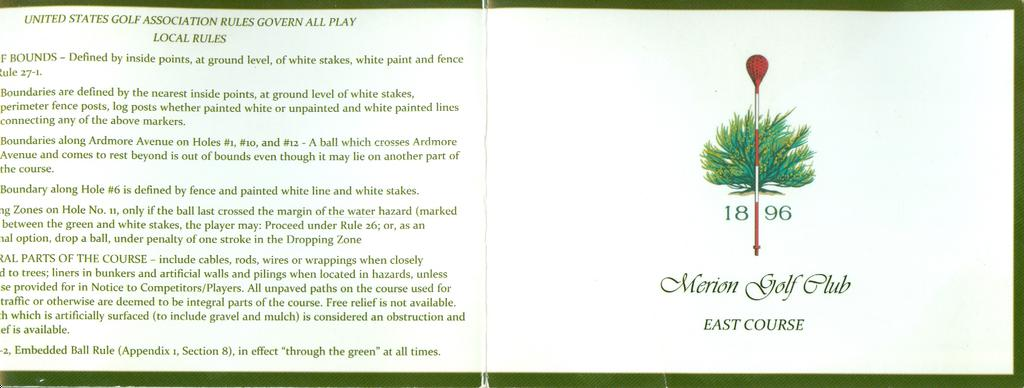 golf course descriptive paragraph