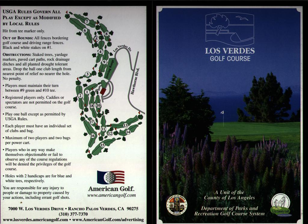 Los Verdes G&CC - Actual Scorecard | Course Database Golfers