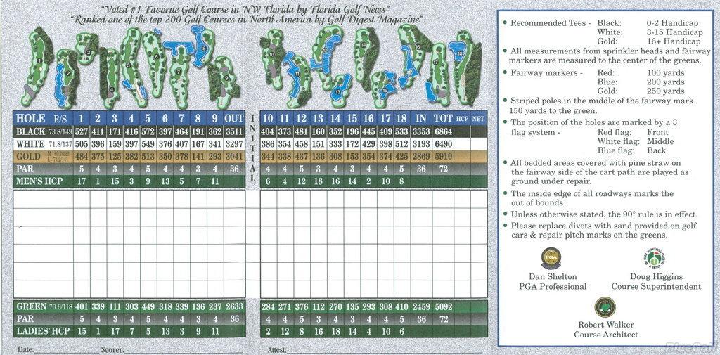 Regatta Bay, Destin, Florida - Golf course information and ...