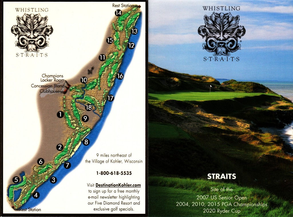 Whist Straits Straits Actual Scorecard Course Database - Us open course map