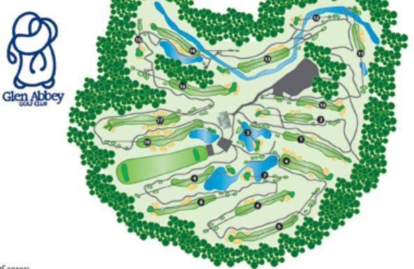 glen abbey golf club layout map course database