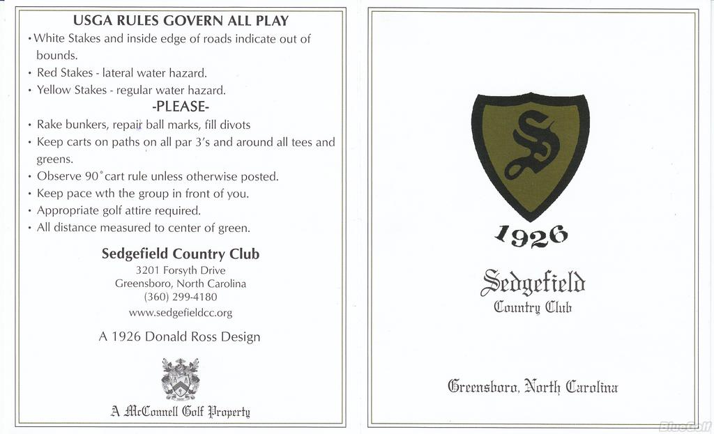 Sedgefield Country Club - Course Profile | Course Database on blandwood mansion greensboro nc, latham park greensboro nc, starmount greensboro nc, adams farm greensboro nc, fisher park greensboro nc, wingate greensboro nc, lotus lounge greensboro nc, willow oaks greensboro nc, lake jeanette greensboro nc, grandover greensboro nc, hamilton lakes greensboro nc, lindley park greensboro nc, white oak amphitheatre greensboro nc, ashton woods greensboro nc, cone elementary school greensboro nc, magnolia place greensboro nc,