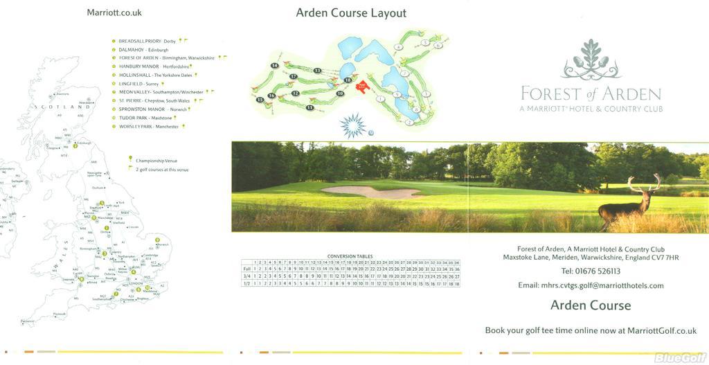 Marriott Forest Of Arden - Actual Scorecard | Course Database
