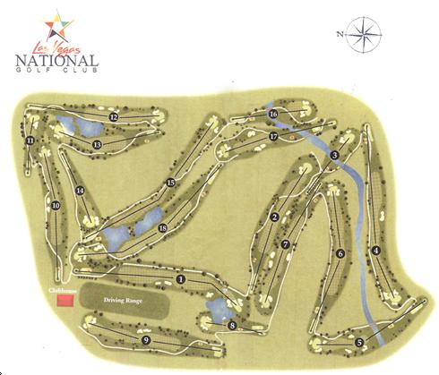 Golf Courses In Las Vegas Map.Las Vegas National Golf Club Layout Map Course Database