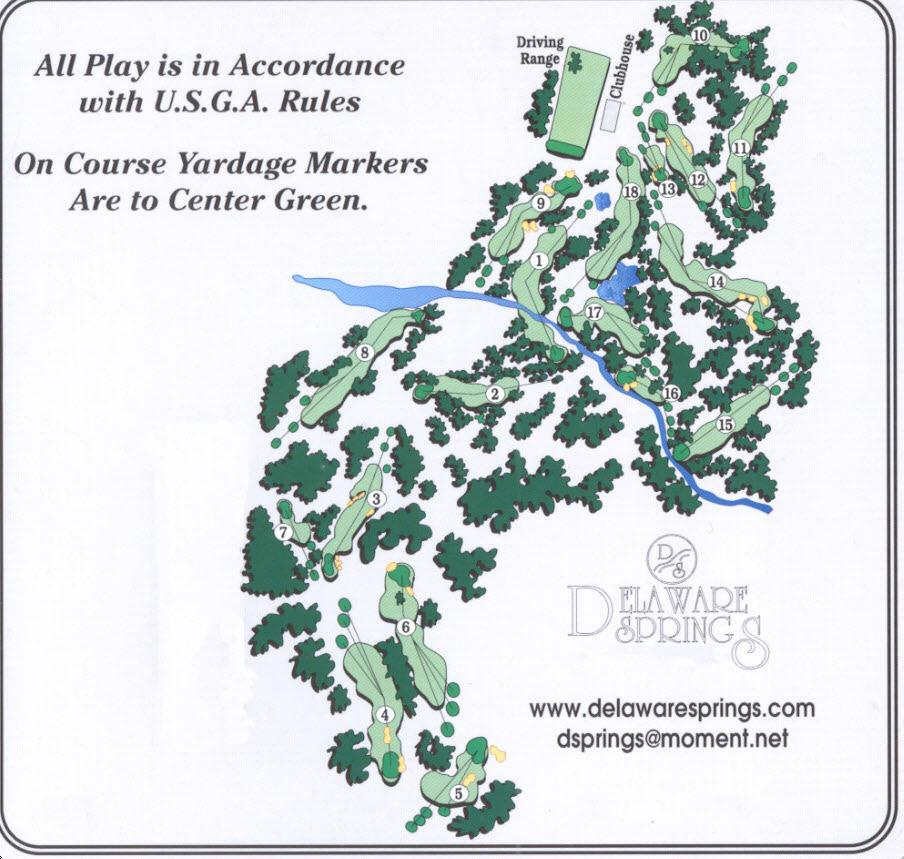 delaware golf courses map Delaware Springs Golf Course Course Profile Course Database delaware golf courses map