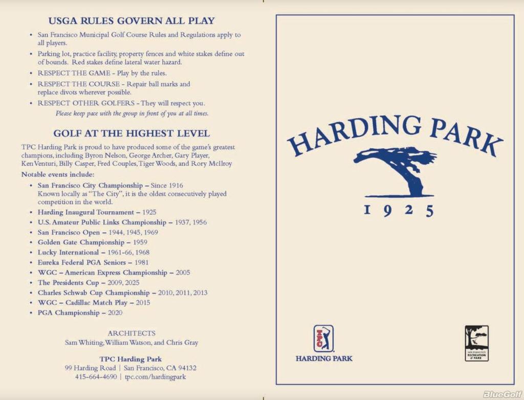 Tpc Harding Park Harding Park Course Profile Course Database