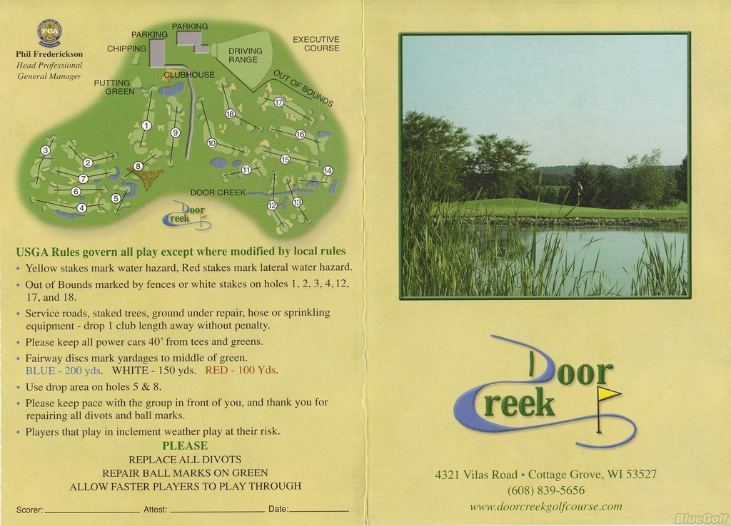 Door Creek Golf Club 18 Hole Course