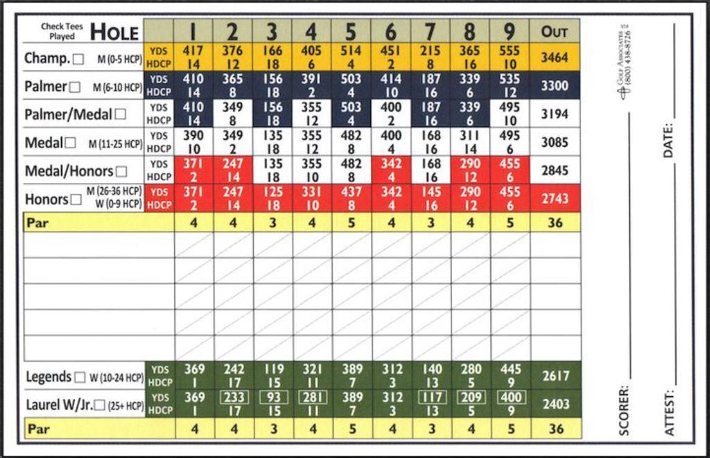 Laurel Creek Country Club - Course Profile | Course Database