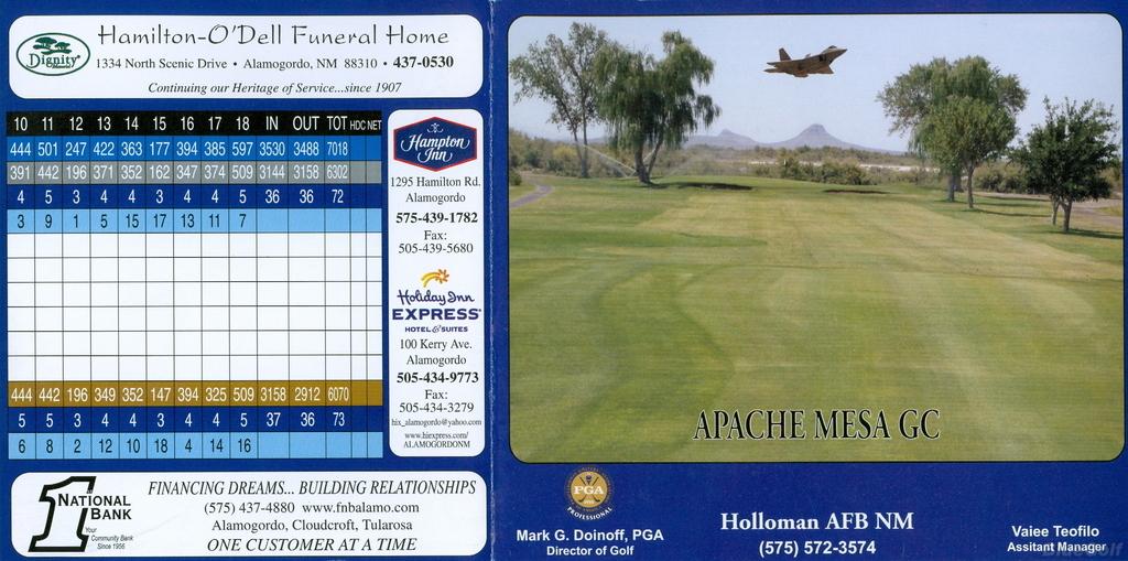 22+ Apache mesa golf course information