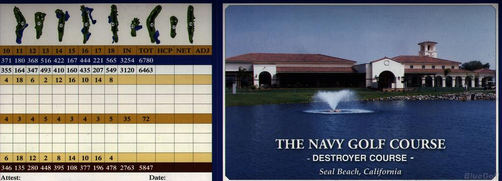 Navy Golf Course Destroyer