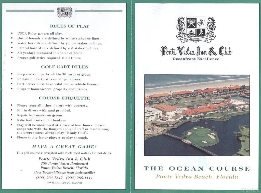 Ponte Vedra Inn & Club - Ocean Course - Course Profile