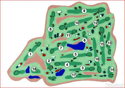 St Andrews Golf and Country Club Lakewood Course Layout Map