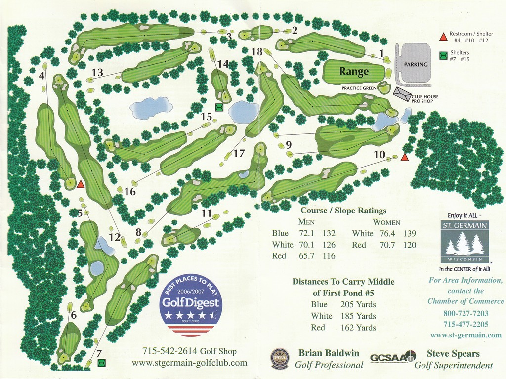 St Germain Golf Club  Layout Map  Wisconsin State Golf