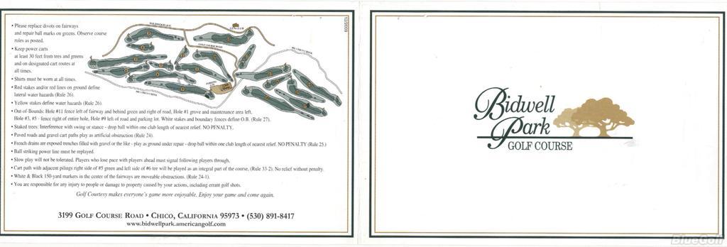 El Rancho Chico Gc At Bidwell Park Course Profile Course Database