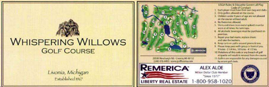 Whispering Willows Golf Course Livonia Michigan Golf