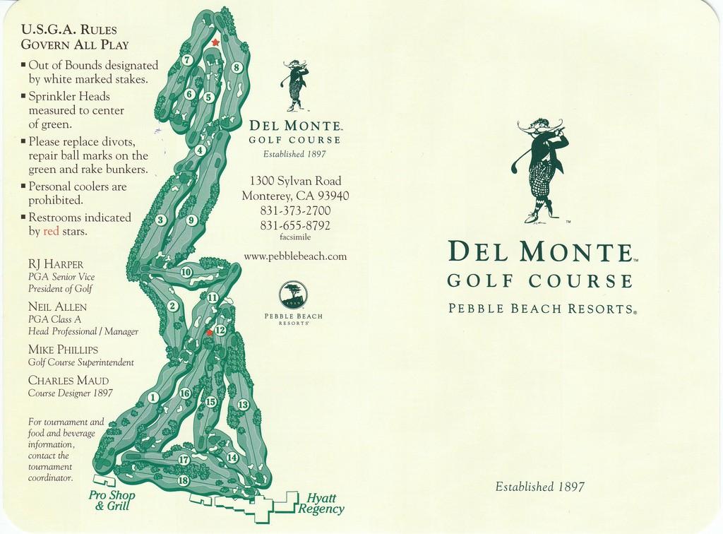 Del Monte Golf Club - Course Profile | Course Database on