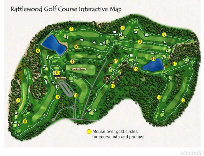 Rattlewood Golf Club Layout Map Course Database