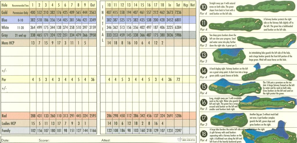 Actual scorecard for st johns golf country club - Cherry valley country club garden city ...