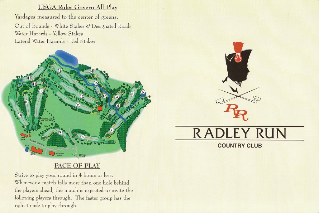 Radley Run CC - Actual Scorecard | Course Database Golfers