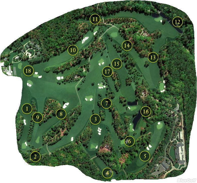 Augusta National Map Augusta National Golf Club   Layout Map | Course Database Augusta National Map