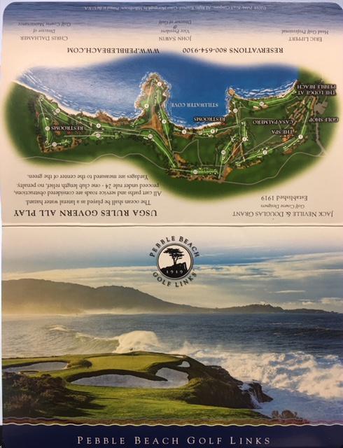 Pebble Beach Map Golf Course