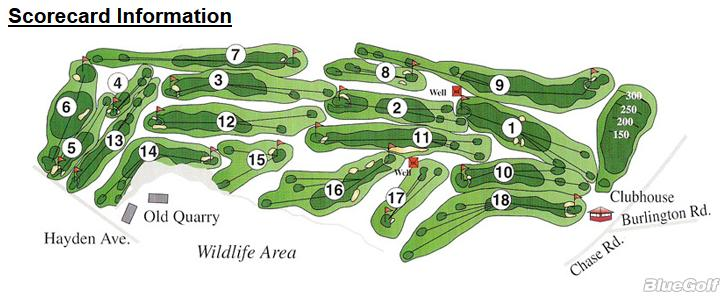 Links Golf Club The Layout Map Course Database